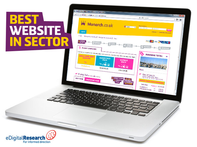 Monarch Airways Best Website in Travel Sector