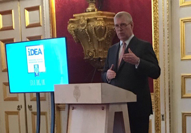 Duke of York at the iDEA Launch