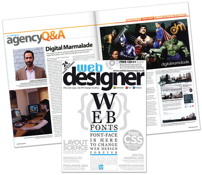 Digital Marmalade Featured in Web Designer Magazine