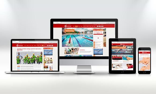 Swim Wales Responsive Web Design