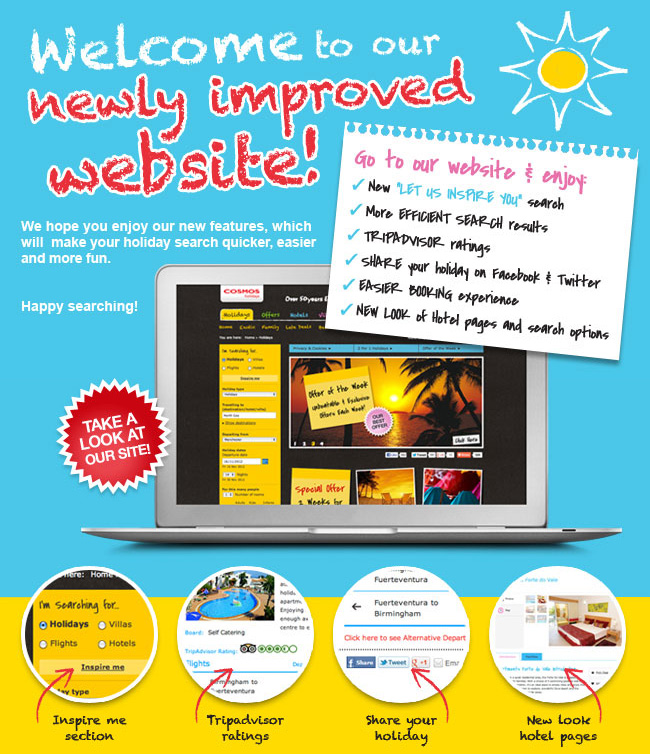 Cosmos Holidays Newly Improved Website