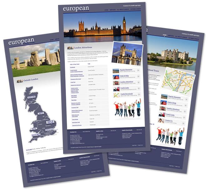 European School Tours Web Design