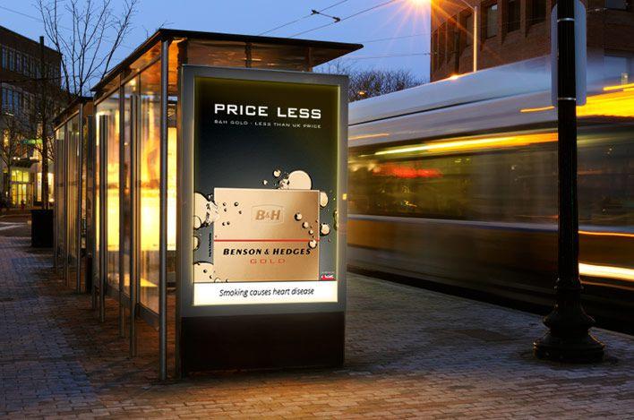 gallaher Bus Shelter Advertising