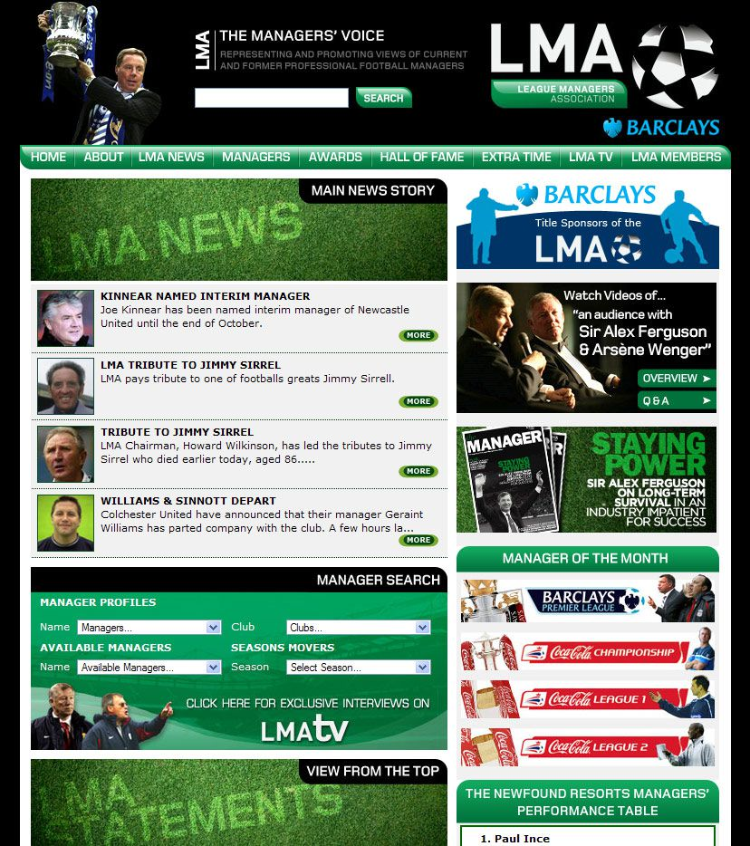 LMA Website Homepage