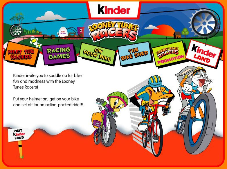 Kinder Looney Tunes website - home