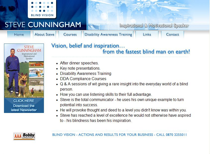 Blind Vision - Steve Cunningham
