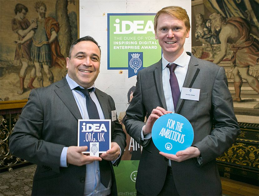 Tony and Jeremy at the Place heping launch the iDEA Award