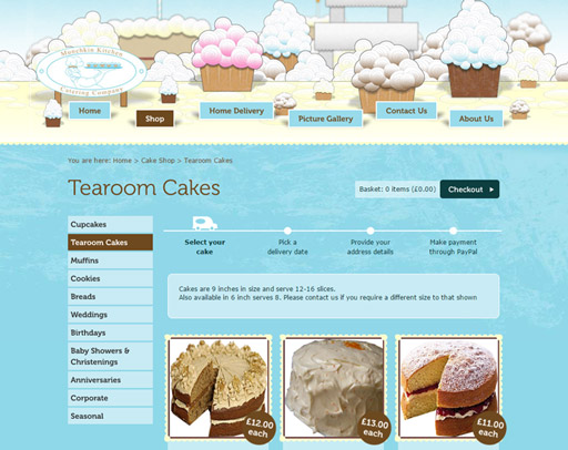 Screenshot of the Munchkin Kitchen Online Shop