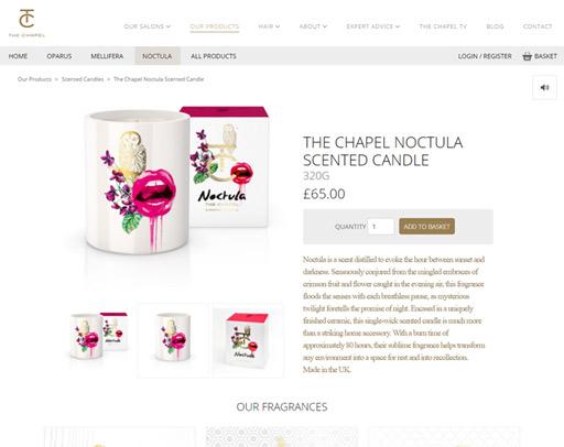 Screenshot from The Chapel Online Shop