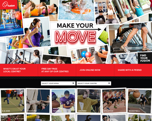 Screenshot from the Make Your Move Website