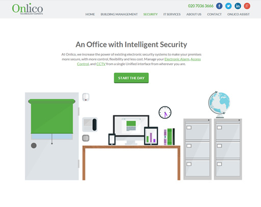 Screenshot from the Onlico Website