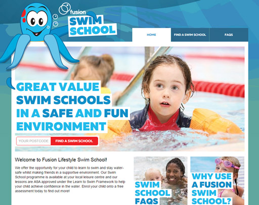 Screenshot from the Swim School Website